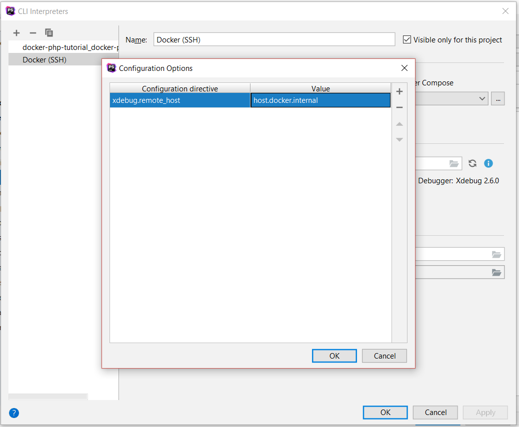 Configure Xdebug options